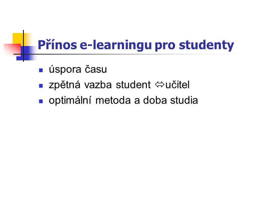 Co očekává student komb.studia od e-learningu.