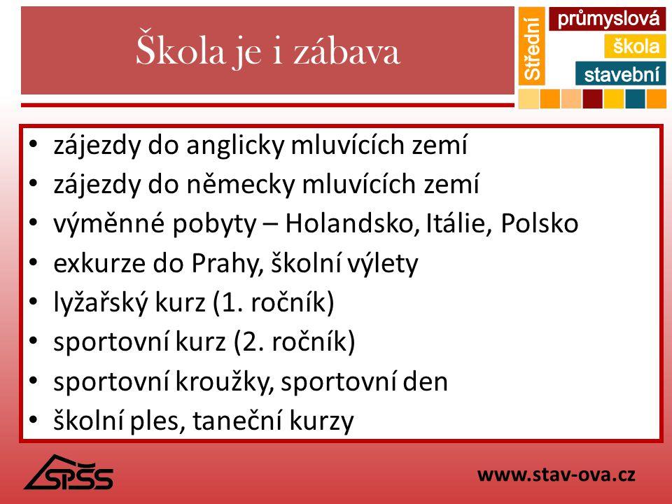 Škola je i zábava zájezdy do anglicky mluvících zemí zájezdy do německy mluvících zemí výměnné pobyty – Holandsko, Itálie, Polsko exkurze do Prahy, šk