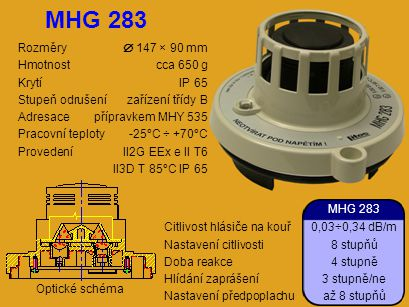 Rozměry  147 × 90 mm Hmotnostcca 650 g KrytíIP 65 Stupeň odrušenízařízení třídy B Adresacepřípravkem MHY 535 Pracovní teploty-25°C ÷ +70°C ProvedeníI