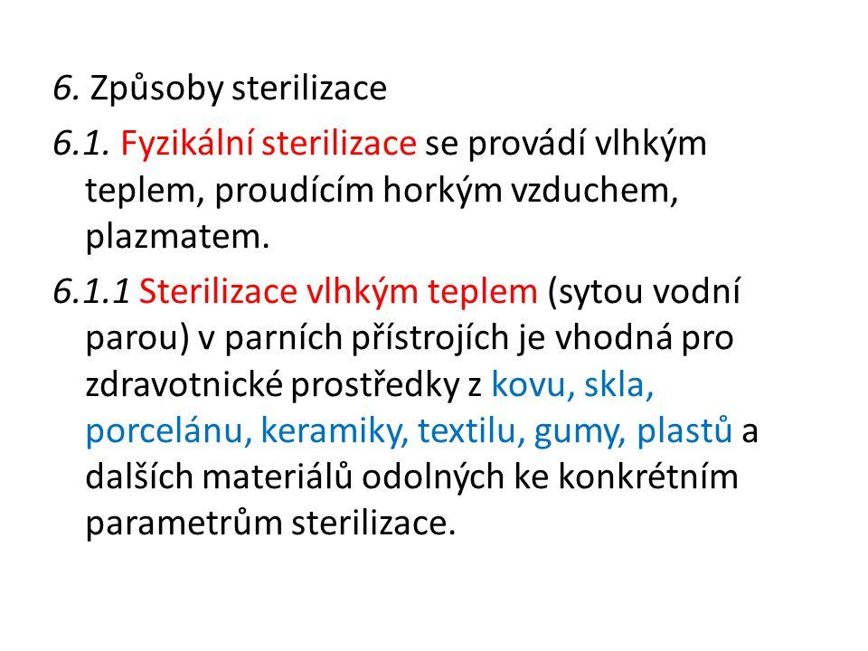 6.Způsoby sterilizace 6.1.