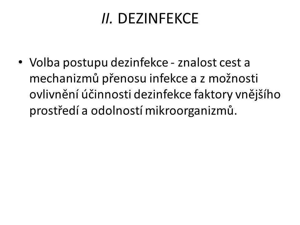 III.VYŠŠÍ STUPEŇ DEZINFEKCE, DVOUSTUPŇOVÁ DEZINFEKCE 1.