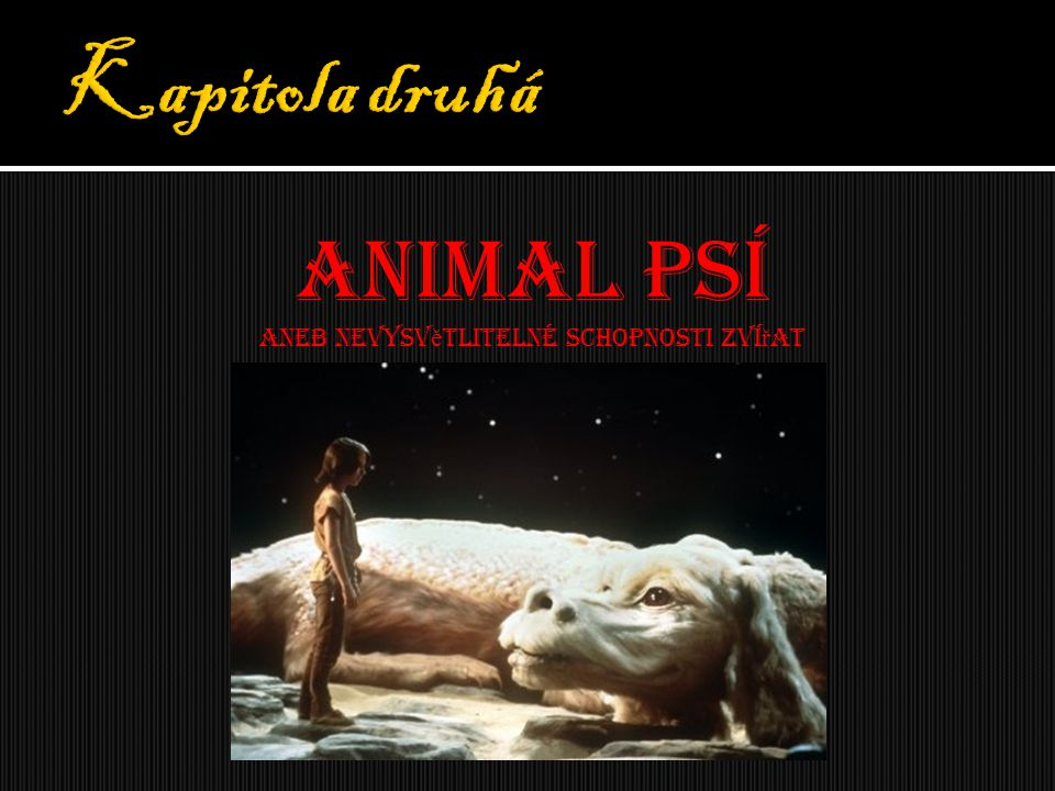 Animal psí Aneb nevysv ě tlitelné schopnosti zví ř at