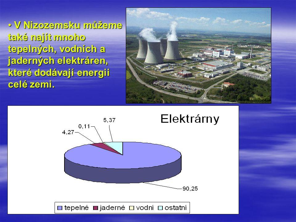 V Nizozemsku můžeme také najít mnoho tepelných, vodních a jaderných elektráren, které dodávají energii celé zemi. V Nizozemsku můžeme také najít mnoho