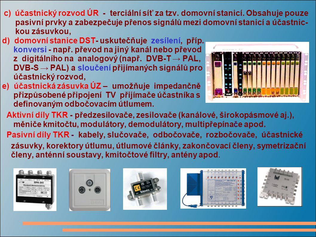 3 PARAMETRY SIGNÁLŮ V TKR 3 PARAMETRY SIGNÁLŮ V TKR Základní parametry signálů - napětí U (úroveň) ve [V] nebo v [dBμV], - napěťový odstup signálu od šumu  u [-] nebo v [dB] - napěťový odstup signálu D u od produktů nelineárních zkreslení 3.1 Úroveň napětí U bývá definována ve [V] nebo logaritmicky v [dBμV] vztahem Logaritmické vyjádření snižuje řád matematických operací (např.