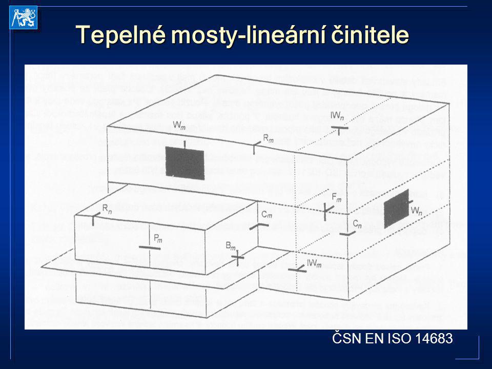 Tepelné mosty-lineární činitele ČSN EN ISO 14683