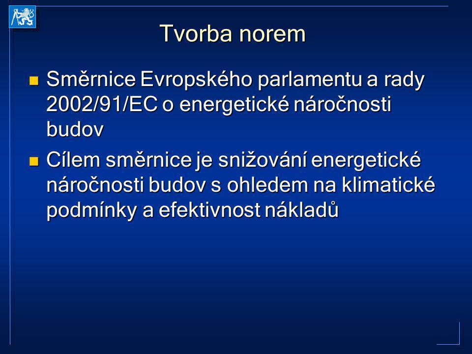 Směrnice Evropského parlamentu a rady 2002/91/EC o energetické náročnosti budov Směrnice Evropského parlamentu a rady 2002/91/EC o energetické náročno