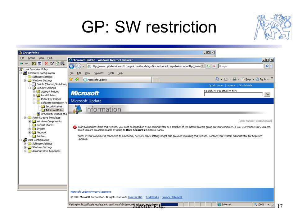 GP: SW restriction 17 Miroslav Prágl