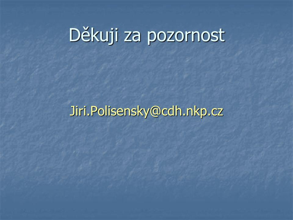 Děkuji za pozornost Jiri.Polisensky@cdh.nkp.cz