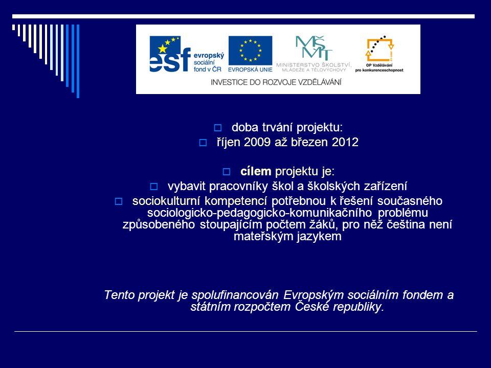 Hlavní řešitelka projektu:  PaedDr.Jaromíra Šindelářová, CSc.