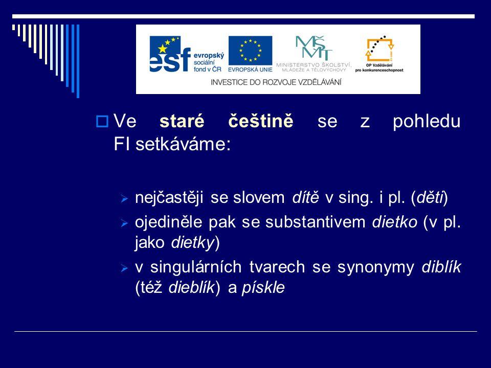 Staročeská přísloví s komponentem dítě  sbírka Česká přísloví V.