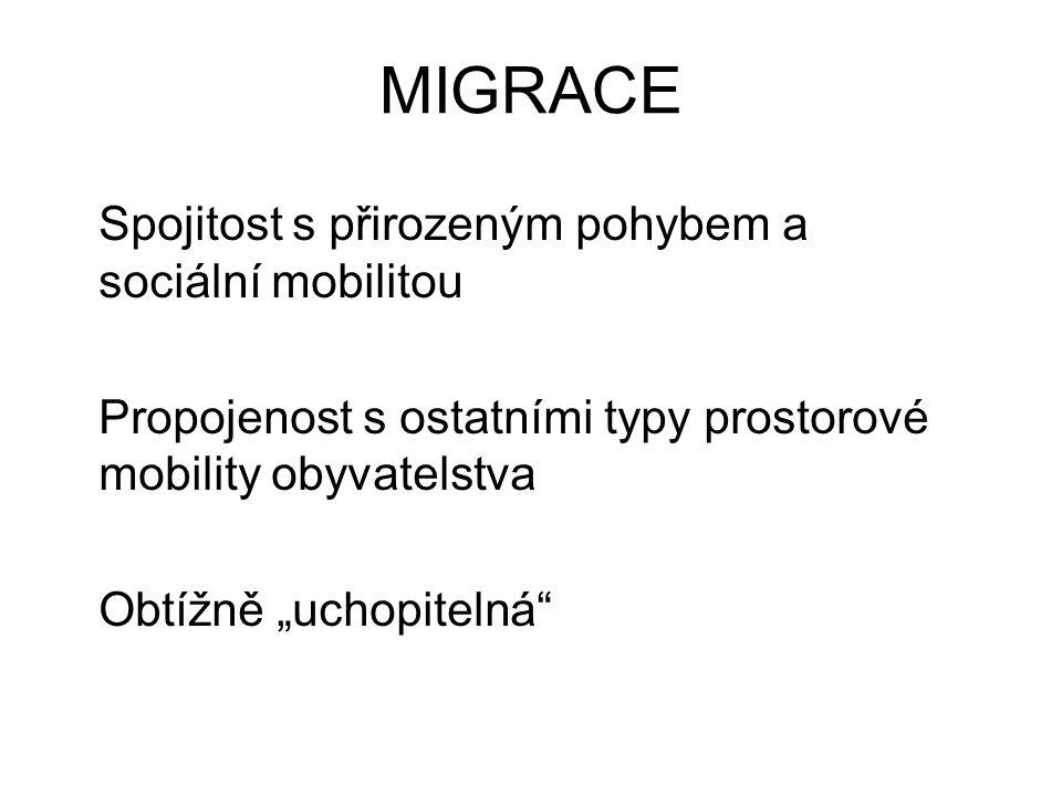 MIGRACE Studium migrace – interdisciplinární Nicméně ideální objekt zájmu geografa - prostorovost - komplexnost - hierarchická organizace