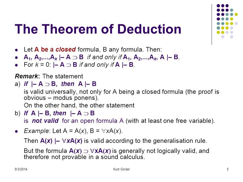 9/3/2014Kurt Gödel46 Gödel's Second Theorem on incompleteness.