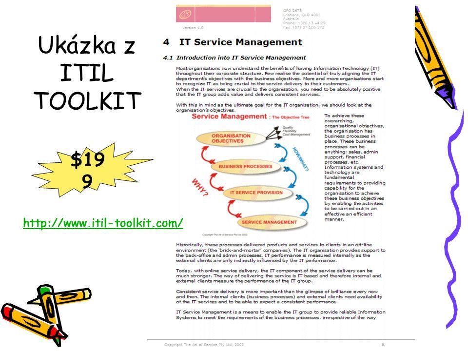 Ukázka z ITIL TOOLKIT $19 9 http://www.itil-toolkit.com/