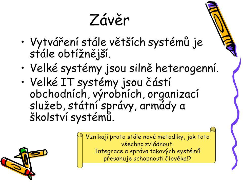 Závěr Vytváření stále větších systémů je stále obtížnější.