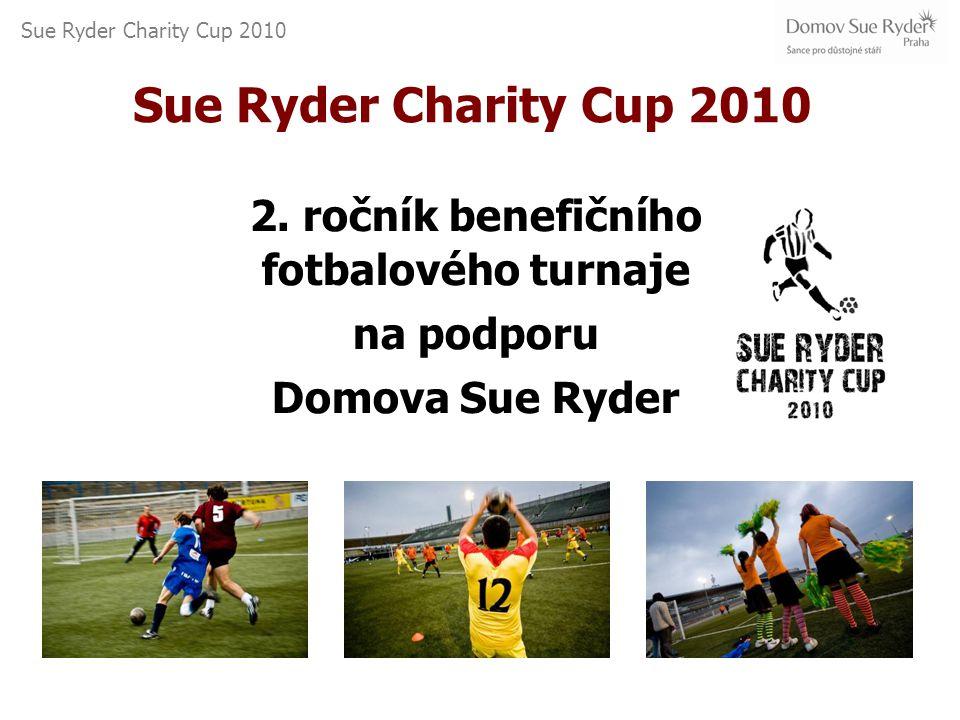 Sue Ryder Charity Cup 2010 Benefiční fotbalový turnaj v malé kopané Pořadatel: Domov Sue Ryder, o.p.s za podpory AC Sparta Praha a Britské obchodní komory v ČR Termín: 9.