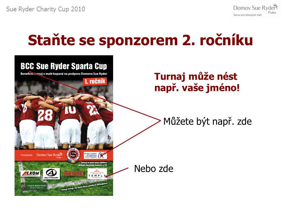 Sue Ryder Charity Cup 2010 Můžete být např. zde Nebo zde Staňte se sponzorem 2.
