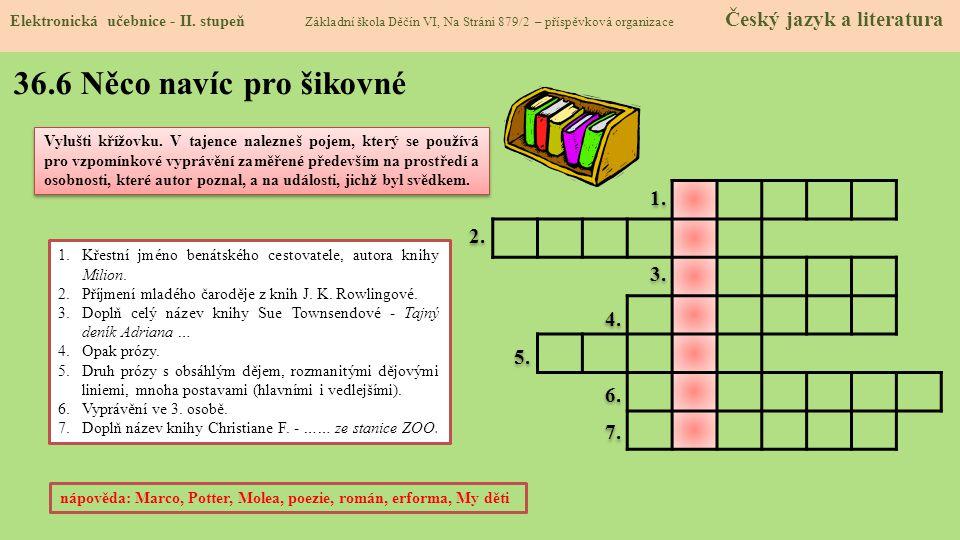 36.7 CLIL (Prose) Elektronická učebnice - II.