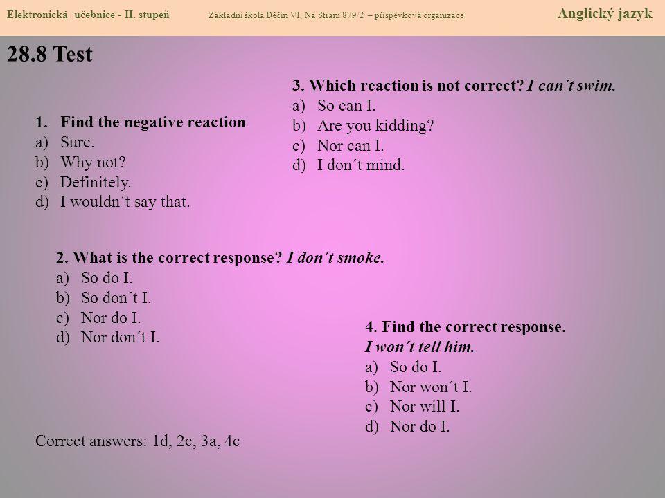 28.8 Test Elektronická učebnice - II.