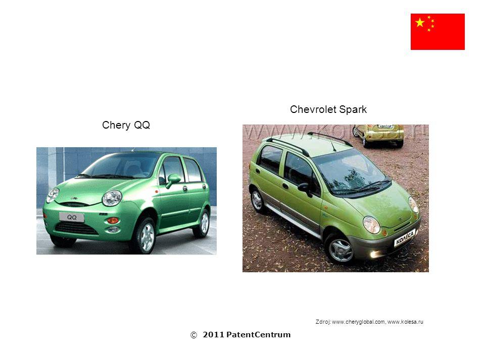 Chevrolet Spark Chery QQ Zdroj: www.cheryglobal.com, www.kolesa.ru © 2011 PatentCentrum