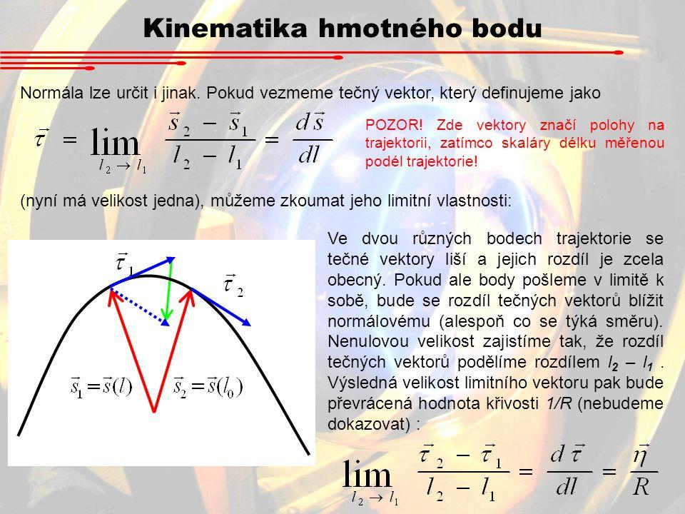 Normála lze určit i jinak. Pokud vezmeme tečný vektor, který definujeme jako (nyní má velikost jedna), můžeme zkoumat jeho limitní vlastnosti: Ve dvou