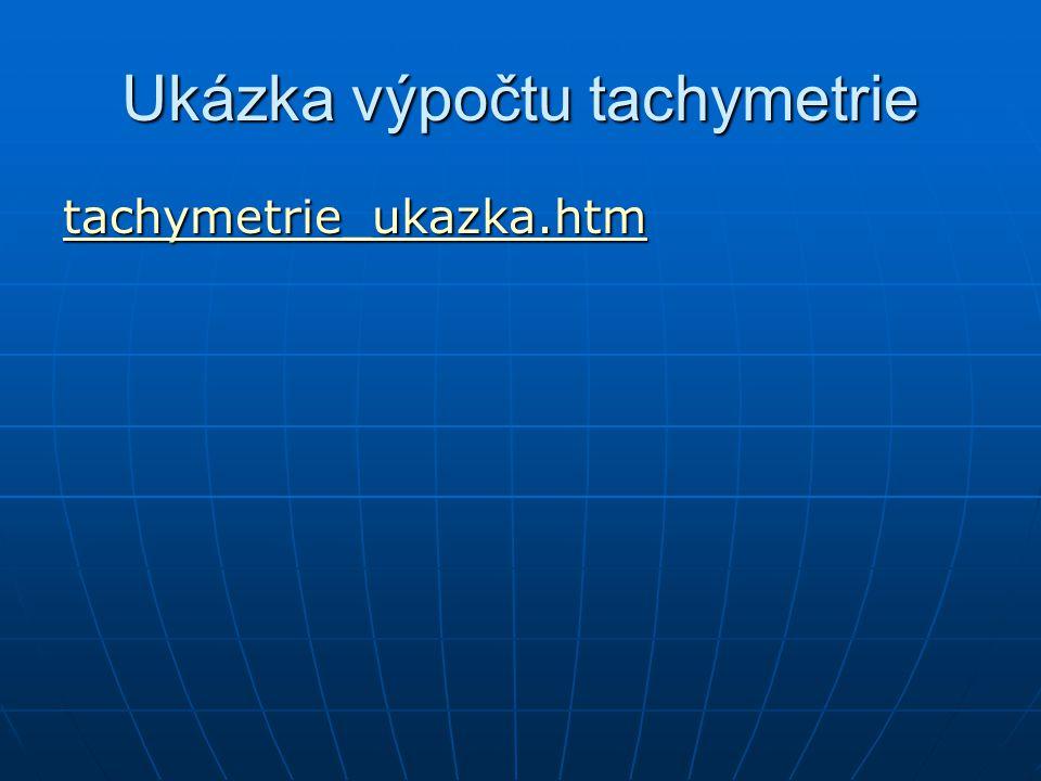 Ukázka výpočtu tachymetrie tachymetrie_ukazka.htm