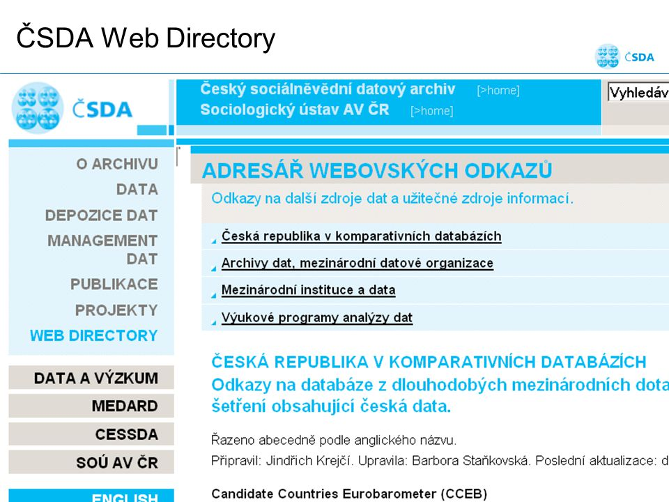 ČSDA Web Directory