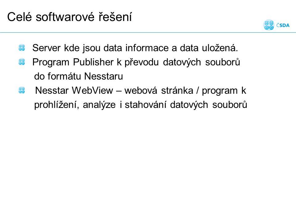 Celé softwarové řešení Server kde jsou data informace a data uložená.