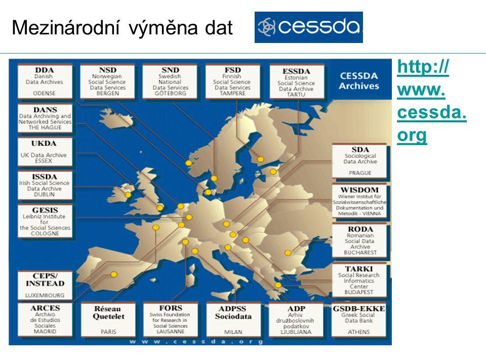 Mezinárodní výměna dat http:// www. cessda. org