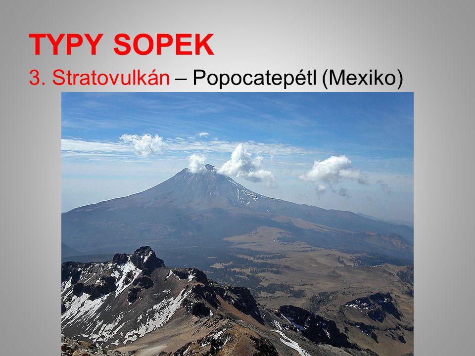 TYPY SOPEK 3. Stratovulkán – Popocatepétl (Mexiko)