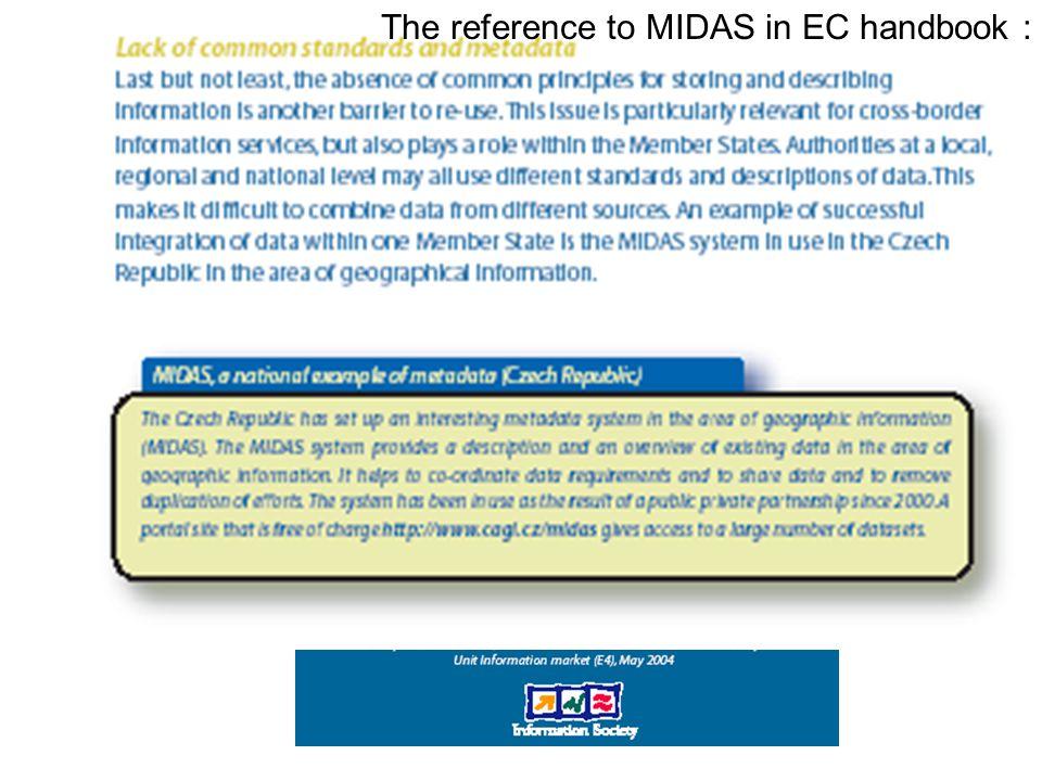 Transparentnost a usnadnění pro přejímající předpřipravené a zveřejněné smlouvy se všemi podmínkami, přístup na Internetu, možnost doplnění a uzavření, exkluzivní zcela výjimečně metapopis datových celků (originálů) a datových sad (odvozených a poskytovaných kopií) na Internetu (Portál VS – Geoportál - MIDAS) Poskytování ve formátech poskytovatele role standardů, popř.