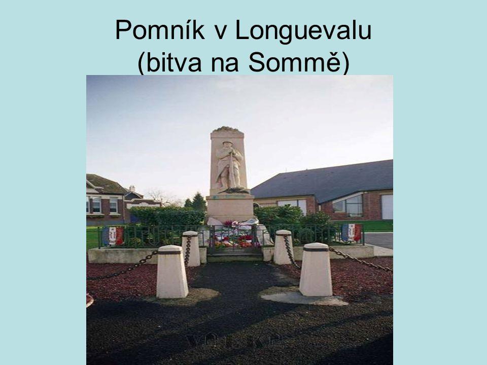 Pomník v Longuevalu (bitva na Sommě)