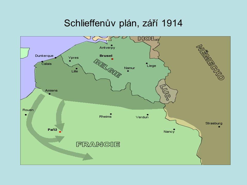 Schlieffenův plán, září 1914