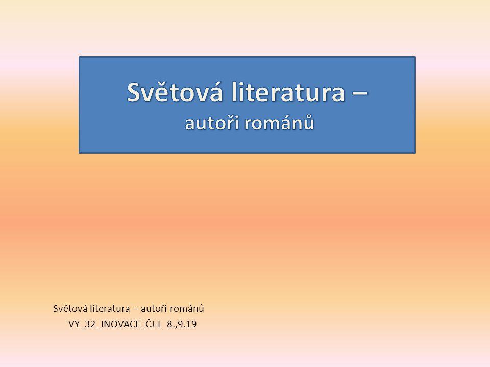 Světová literatura – autoři románů