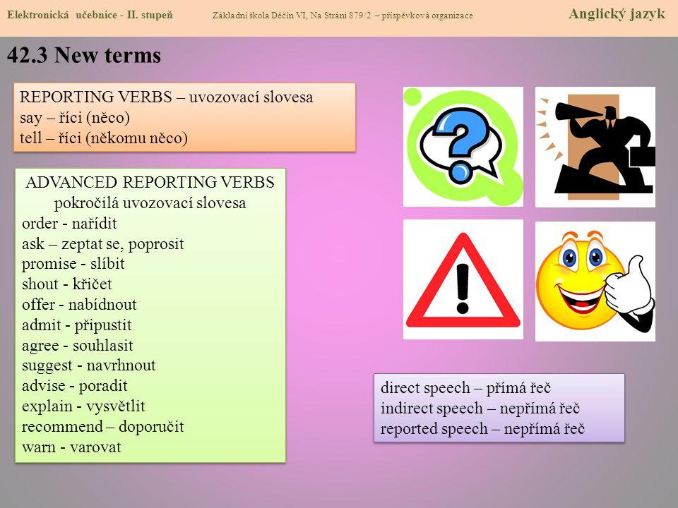 42.4 Reported statements Elektronická učebnice - II.