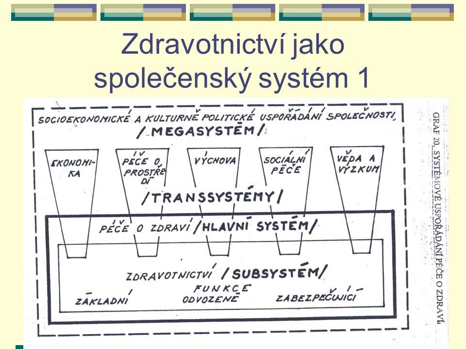 Zdravotnické systémy7 Zdravotnictví jako společenský systém 1