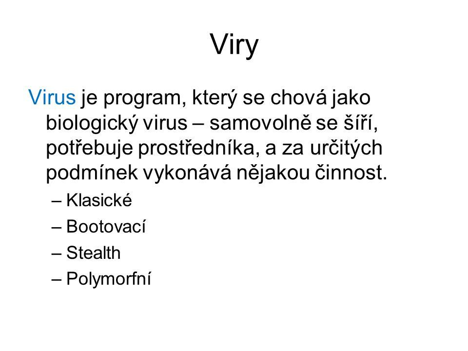 Viry Virus je program, který se chová jako biologický virus – samovolně se šíří, potřebuje prostředníka, a za určitých podmínek vykonává nějakou činnost.