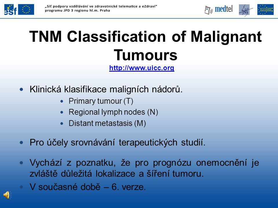 Klinická klasifikace maligních nádorů.