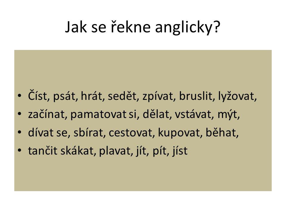 Jak se řekne anglicky.