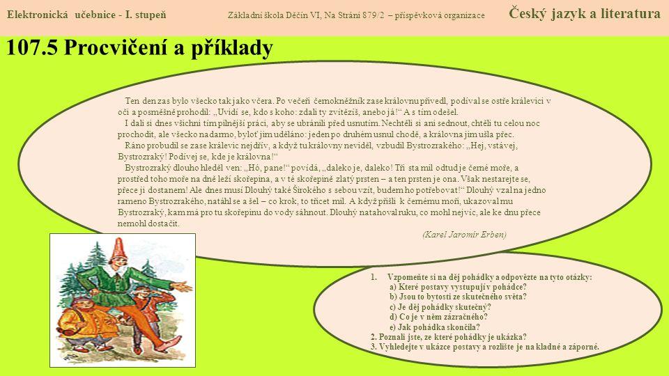 107.5 Procvičení a příklady Elektronická učebnice - I.