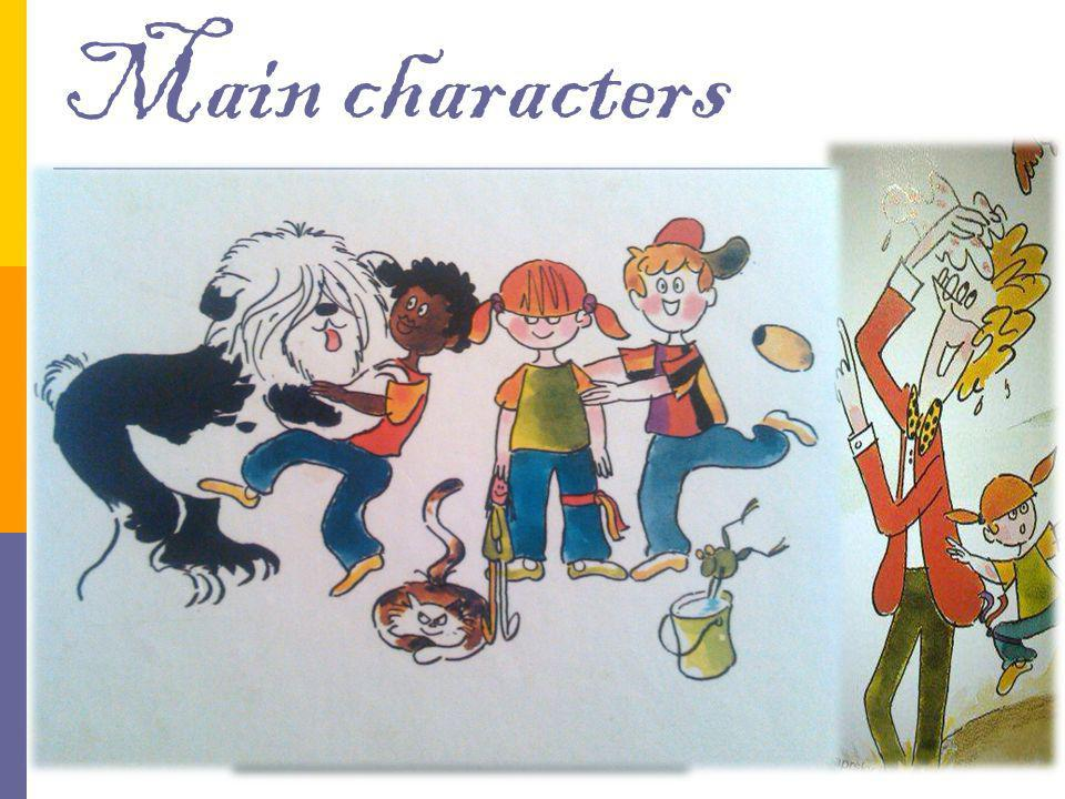 Main characters Filip – helpful, curious, friendly, naughty Doctor – brave, nice Klárka – little girl, Filip's sister, Tom – little black boy, Filip's friend