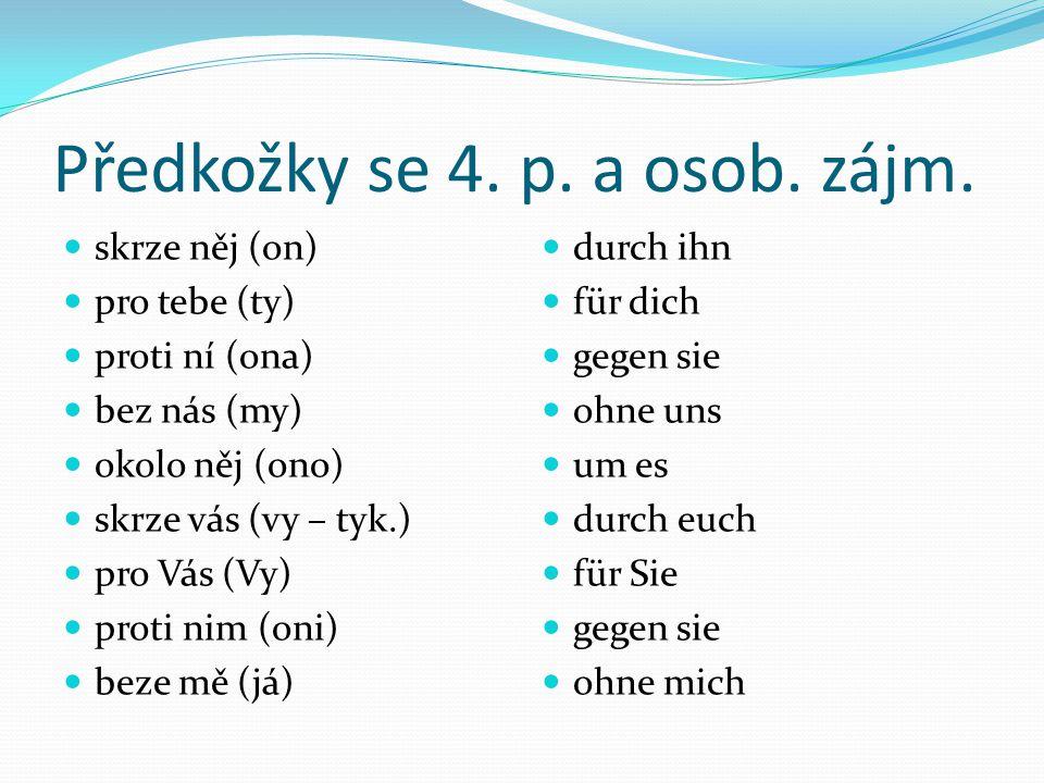 Předkožky se 4.p. a osob. zájm.