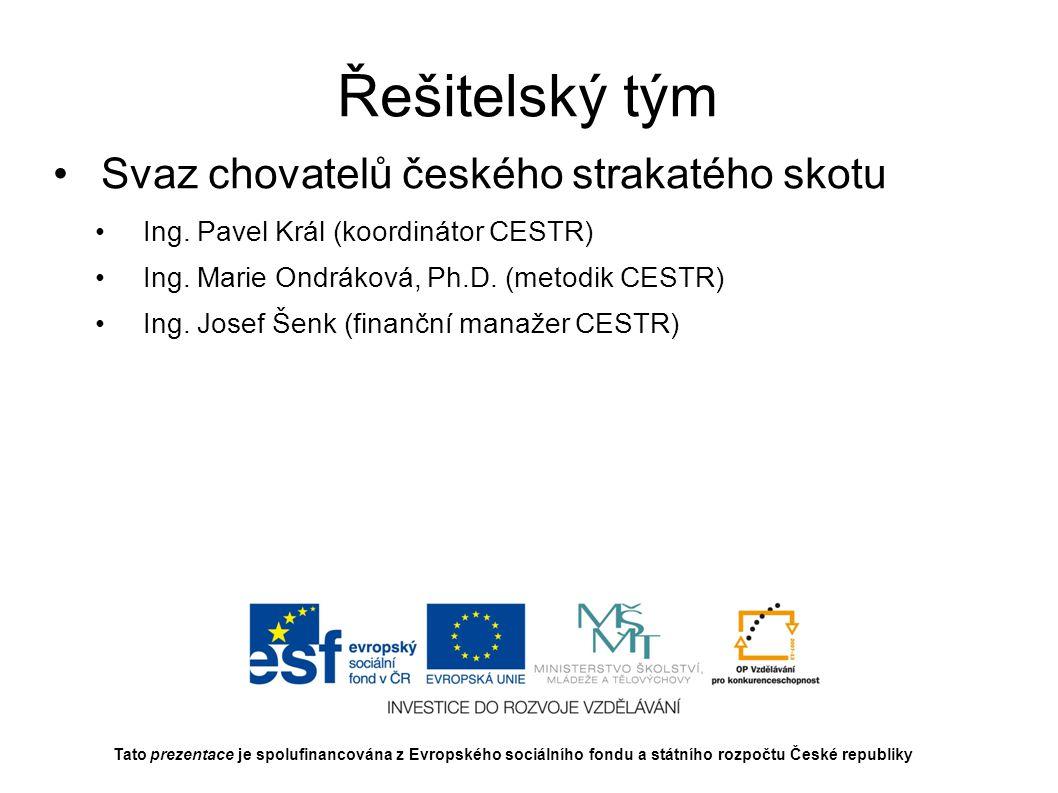 Přidělené finanční prostředky 20 929 977,20 Kč Tato prezentace je spolufinancována z Evropského sociálního fondu a státního rozpočtu České republiky