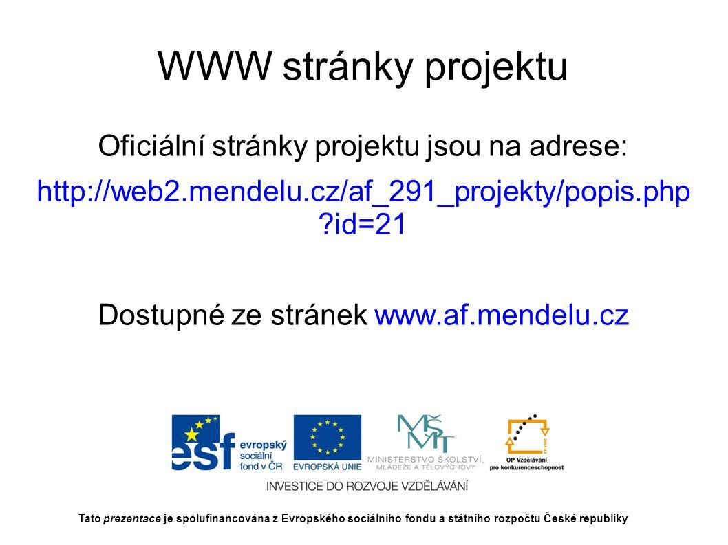 Děkuji za pozornost Tato prezentace je spolufinancována z Evropského sociálního fondu a státního rozpočtu České republiky
