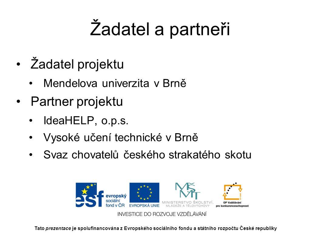 Řešitelský tým Mendelova univerzita v Brně doc.Ing.