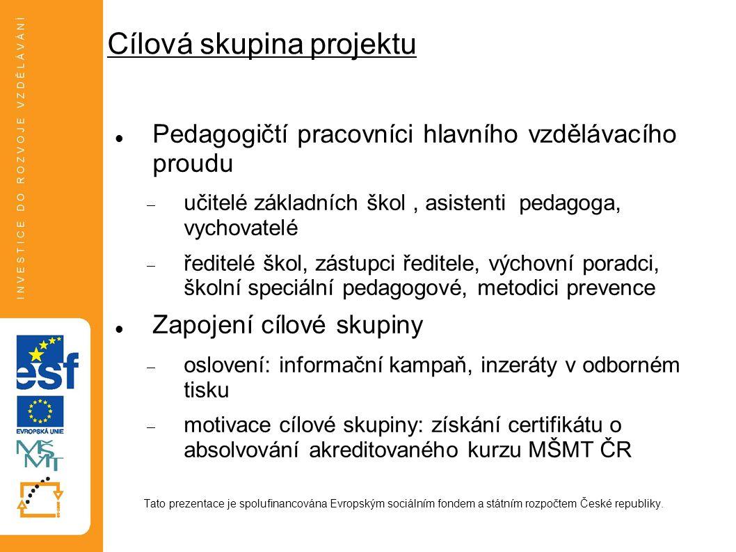 Fáze projektu 1.Příprava podmínek realizace projektu 2.