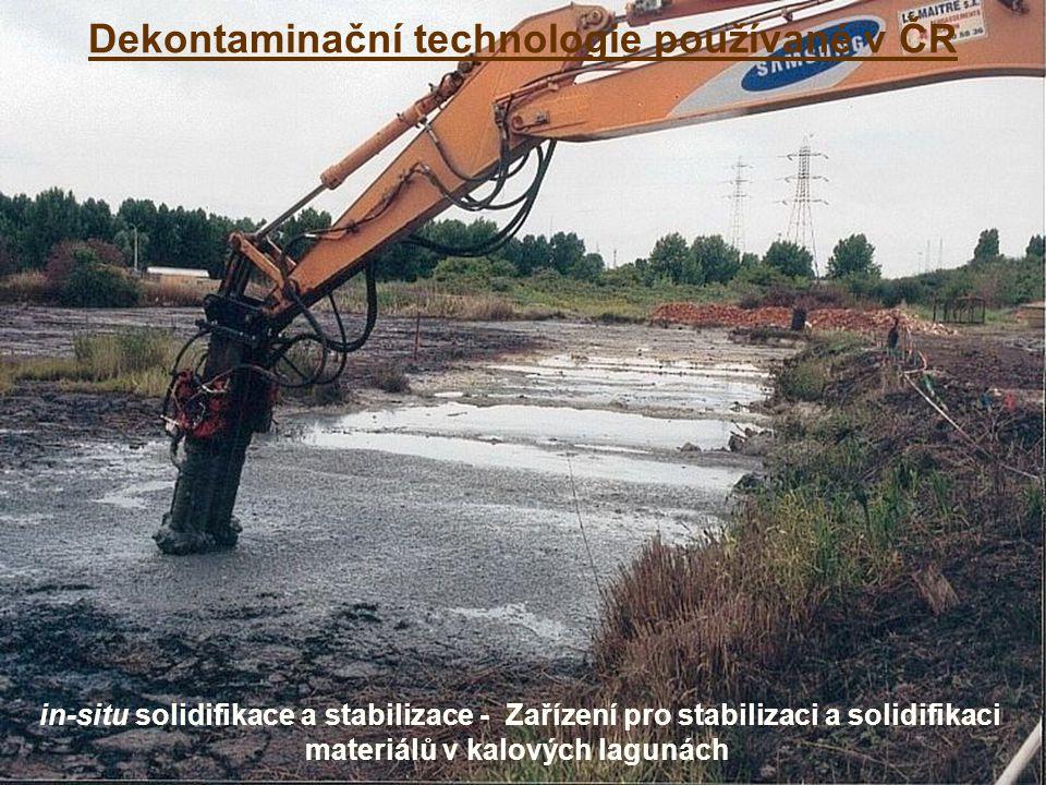 Dekontaminační technologie používané v ČR in-situ solidifikace a stabilizace - Zařízení pro stabilizaci a solidifikaci materiálů v kalových lagunách