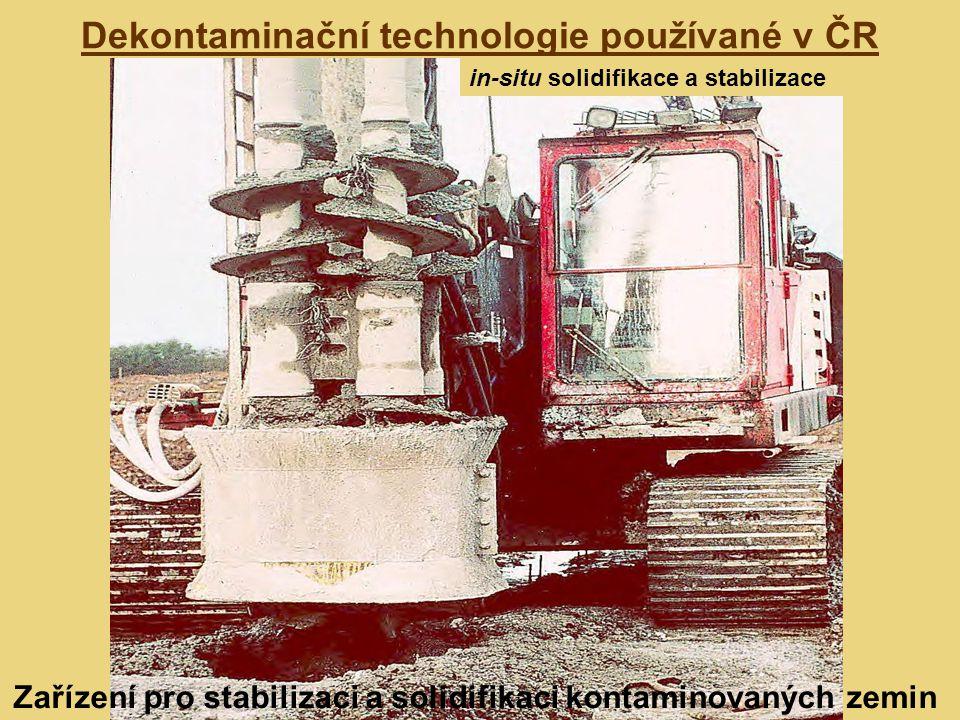 Dekontaminační technologie používané v ČR in-situ solidifikace a stabilizace Zařízení pro stabilizaci a solidifikaci kontaminovaných zemin