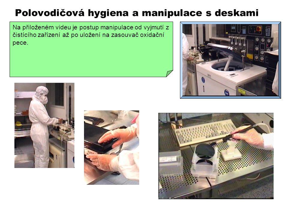 Polovodičová hygiena a manipulace s deskami VIDEO 320 x 240 Vzduchotechnické zřízení společně s filtrací vzduchu sice vytvoří v čistých prostorech vhodné prostředí pro polovodičovou technologii, ale bez dalších opatření by nebylo možné čistotu prostředí udržet.