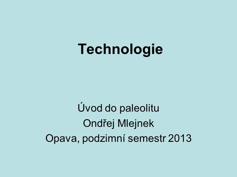 Technologie Úvod do paleolitu Ondřej Mlejnek Opava, podzimní semestr 2013