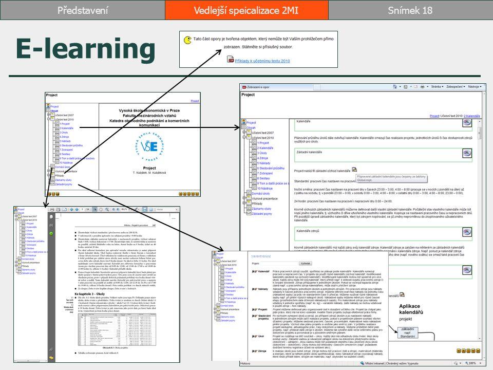 E-learning Vedlejší speicalizace 2MISnímek 18Představení